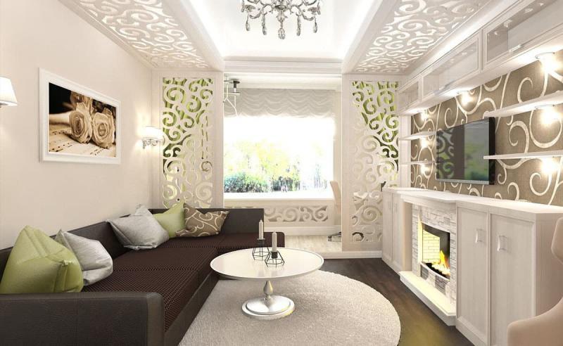 Потолок с декоративными панелями 3