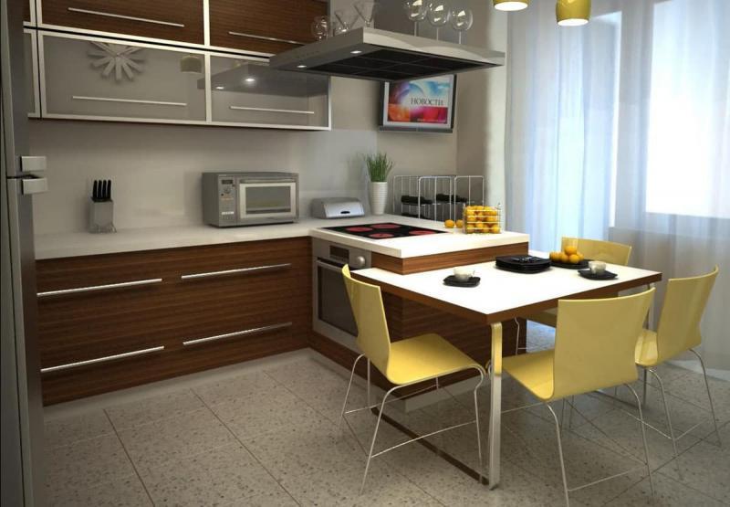 Угловая кухня 10-12 кв.м 1