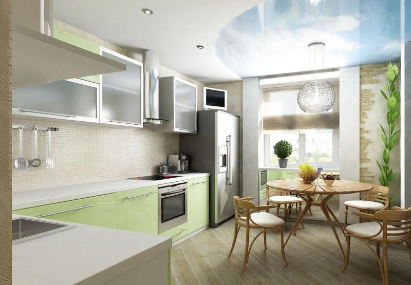 Угловая кухня 10-12 кв.м 2