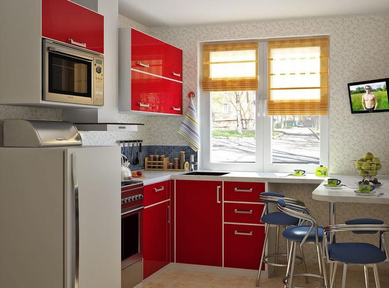 Угловая кухня 6-7 кв. м 2