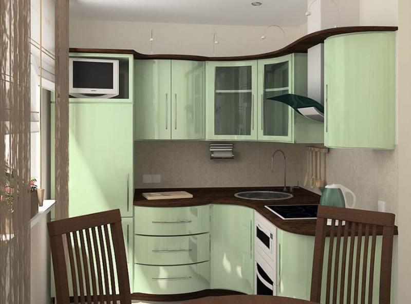 Угловая кухня 6-7 кв. м 8