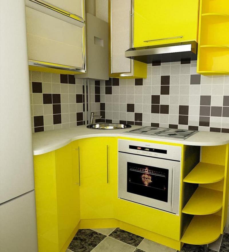 Угловая кухня до 6 кв.м 5