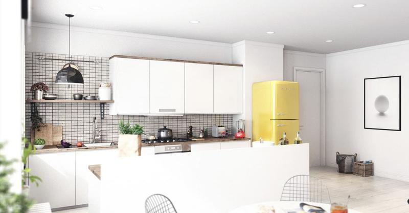 Дизайн кухни в скандинавском стиле - фото 3