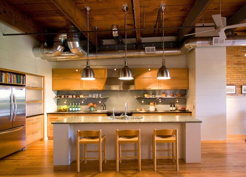 Кухня в стиле лофт - фото 3