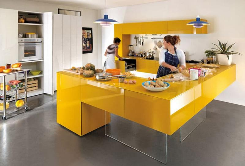 Кухни в желтом цвете 1