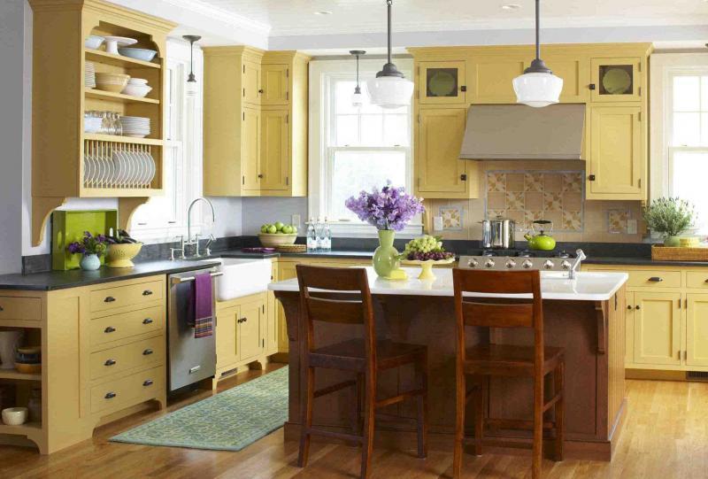 Кухни в желтом цвете 2