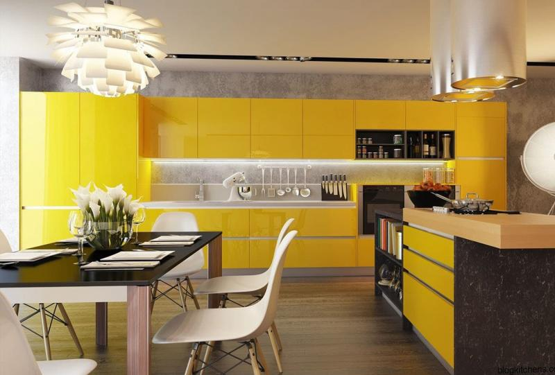 Кухни в желтом цвете 3