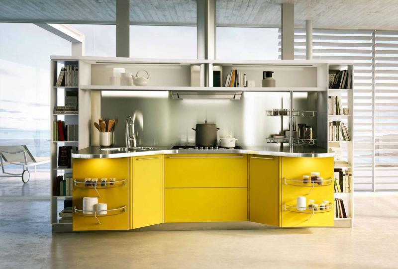 Кухни в желтом цвете 5
