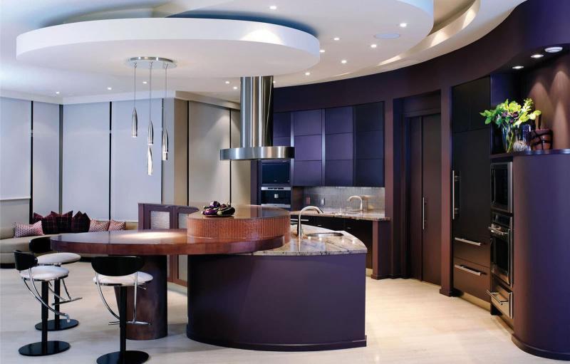 Кухня в фиолетовом цвете 1