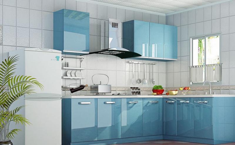 Кухня в голубом цвете 1