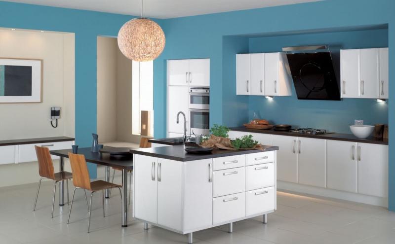 Кухня в голубом цвете 3