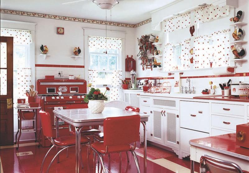 Кухня в красном цвете 4