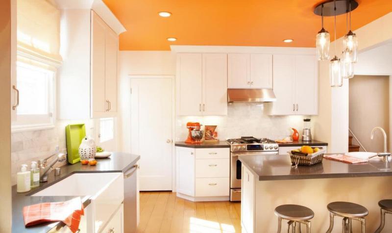 Кухня в оранжевом цвете 2
