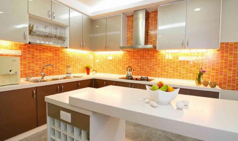 Кухня в оранжевом цвете 4