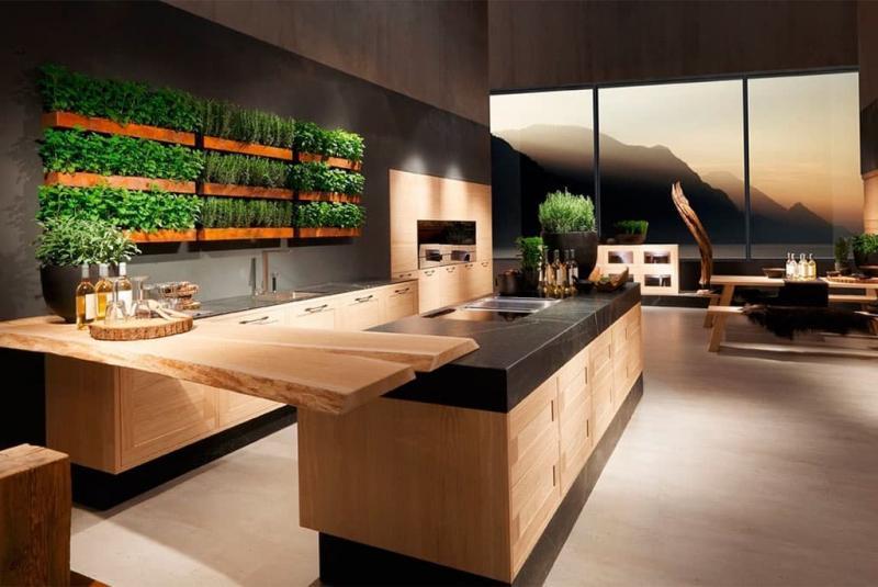 Пример кухни в стиле Эко
