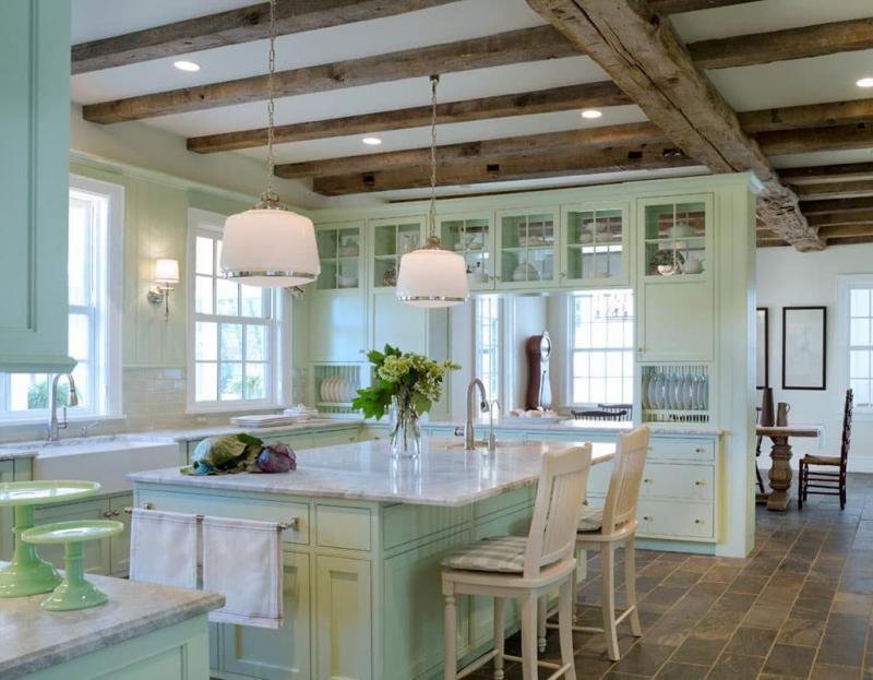 Кухня в зеленом цвете 1