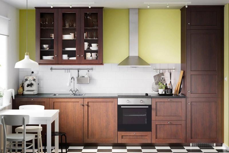 Прямая планировка кухни