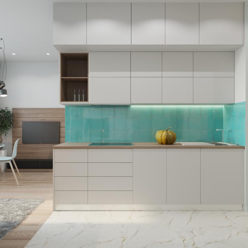 Кухня-коридор (Дизайн: Оксана Цымбалова, г. Москва) 2