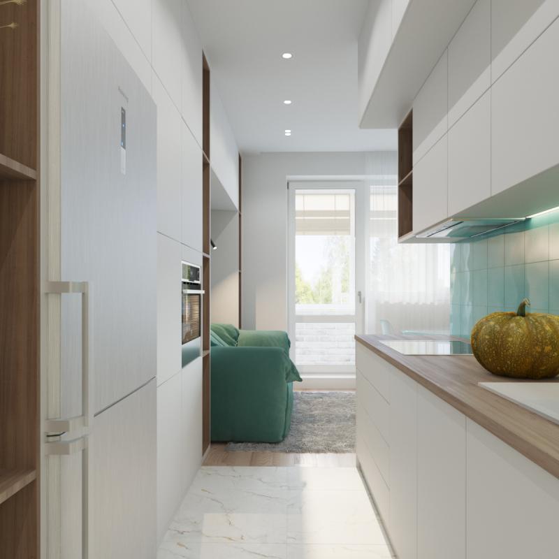 Кухня-коридор (Дизайн: Оксана Цымбалова, г. Москва) 3