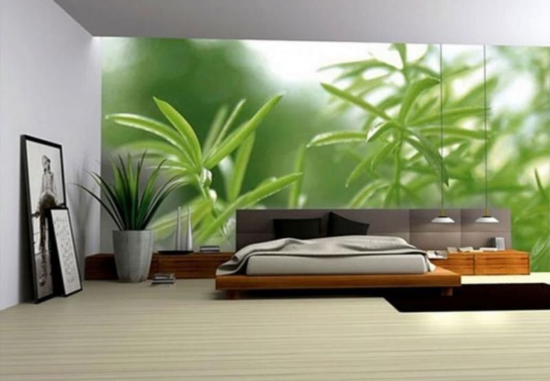 3Д обои в интерьере спальни 1