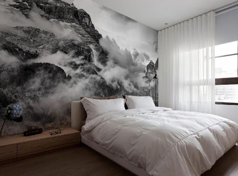 Фотообои в интерьере спальни 1