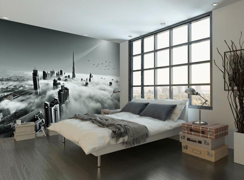 Фотообои в интерьере спальни 3