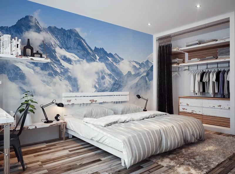 Фотообои в интерьере спальни 6