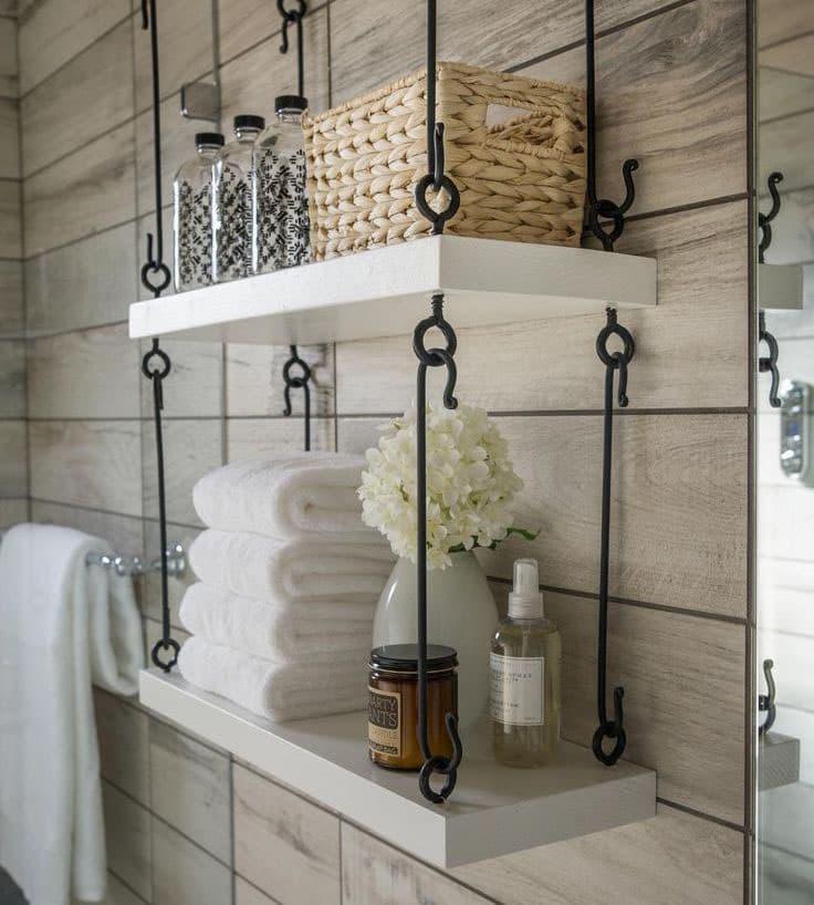 Открытые полки для ванной 1