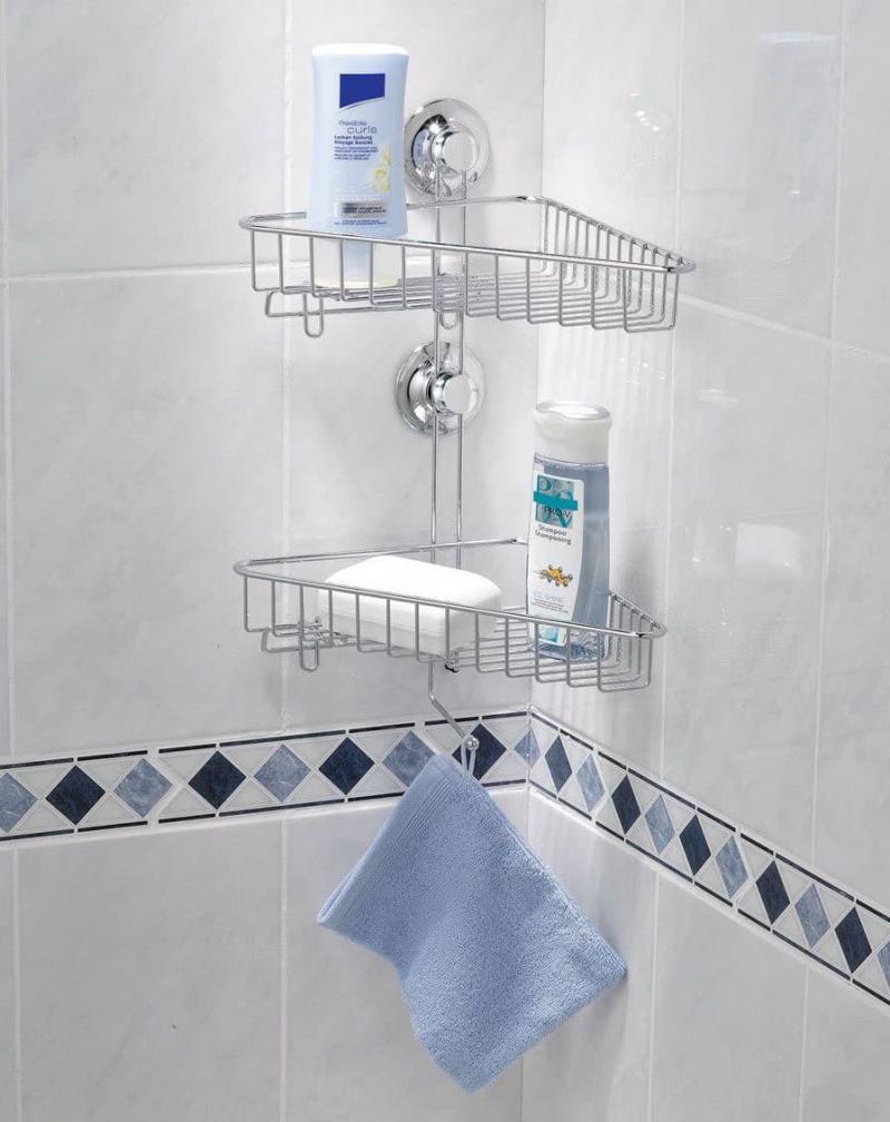 Угловая полочка в ванной 1