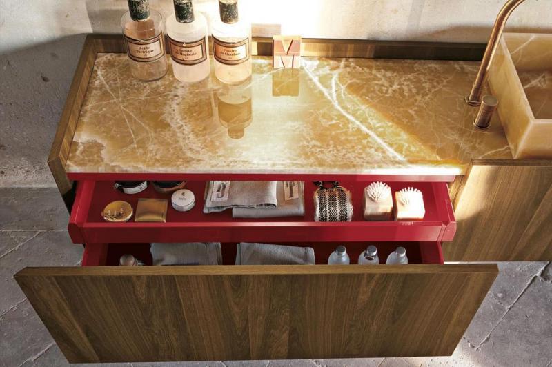 Выдвижные ящики в интерьере ванной 2