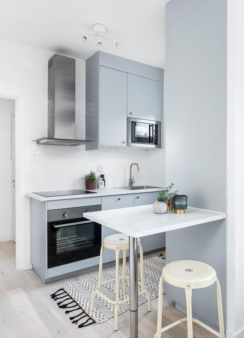 Бытовая техника в интерьер маленькой кухни 3