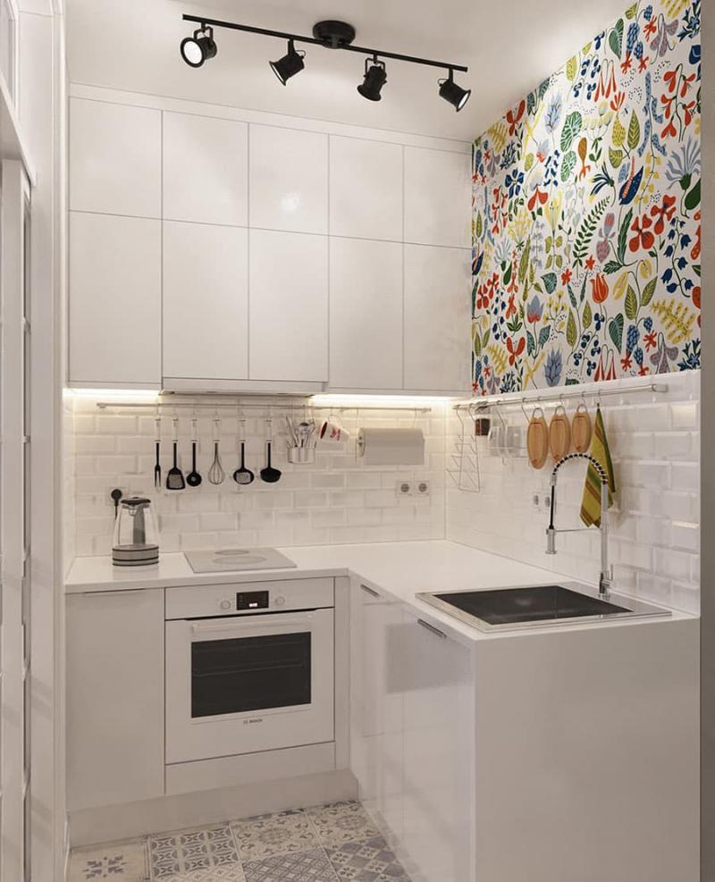 Дизайн маленькой кухни 2