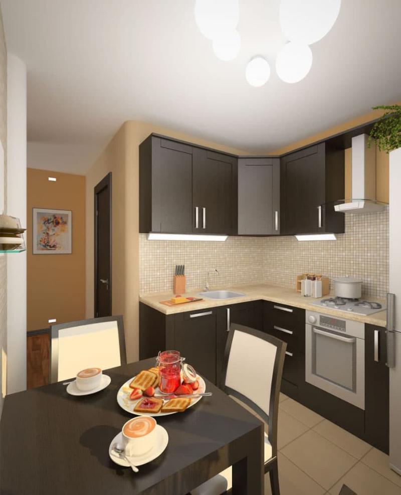 Интерьер кухни 6 кв.м 3