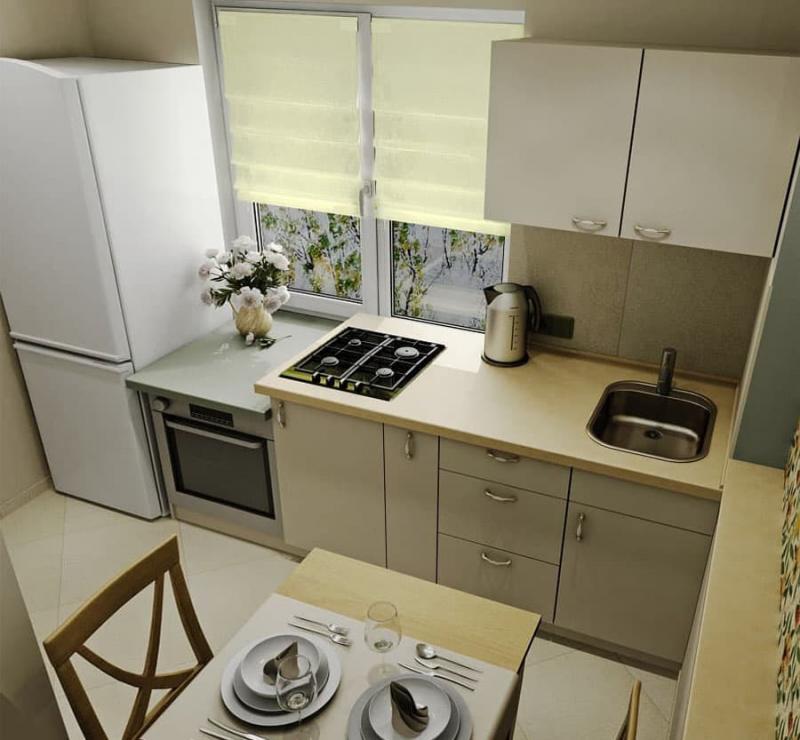 Интерьер кухни 6 кв.м 4