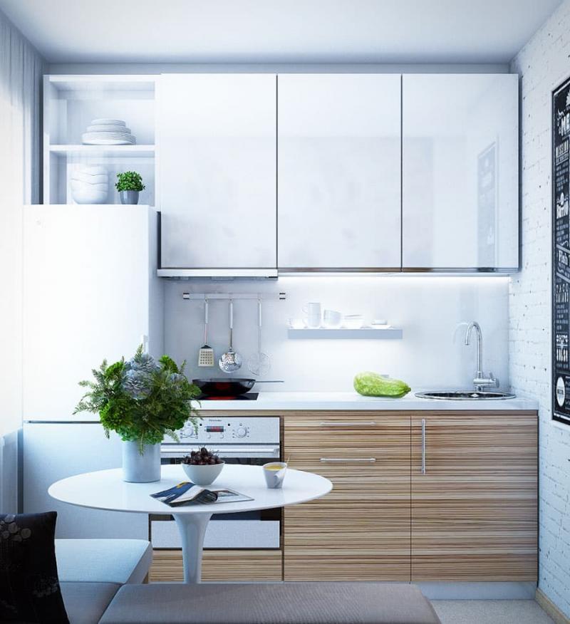 Интерьер кухни 6 кв.м 5