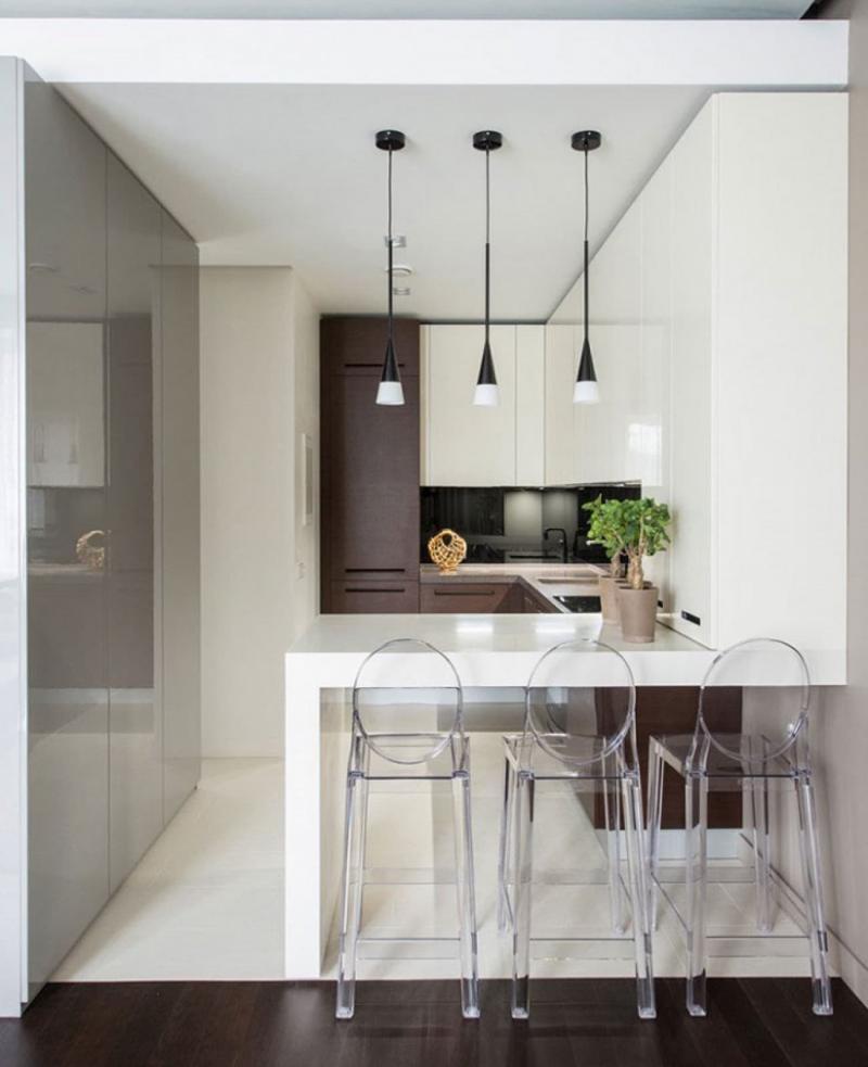 Маленькая кухня в современном стиле 4