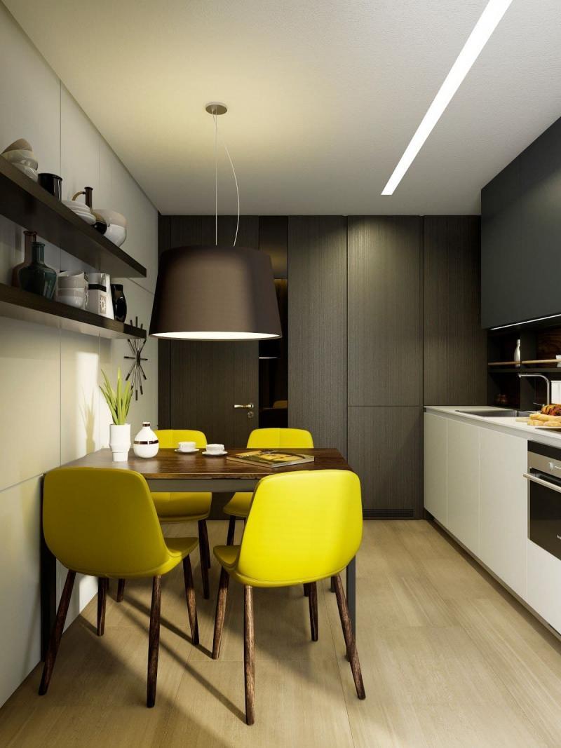 Маленькая кухня в современном стиле 5