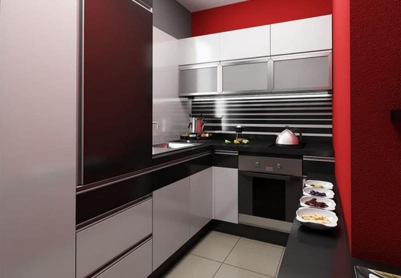 Маленькая кухня в стиле хай-тек 1