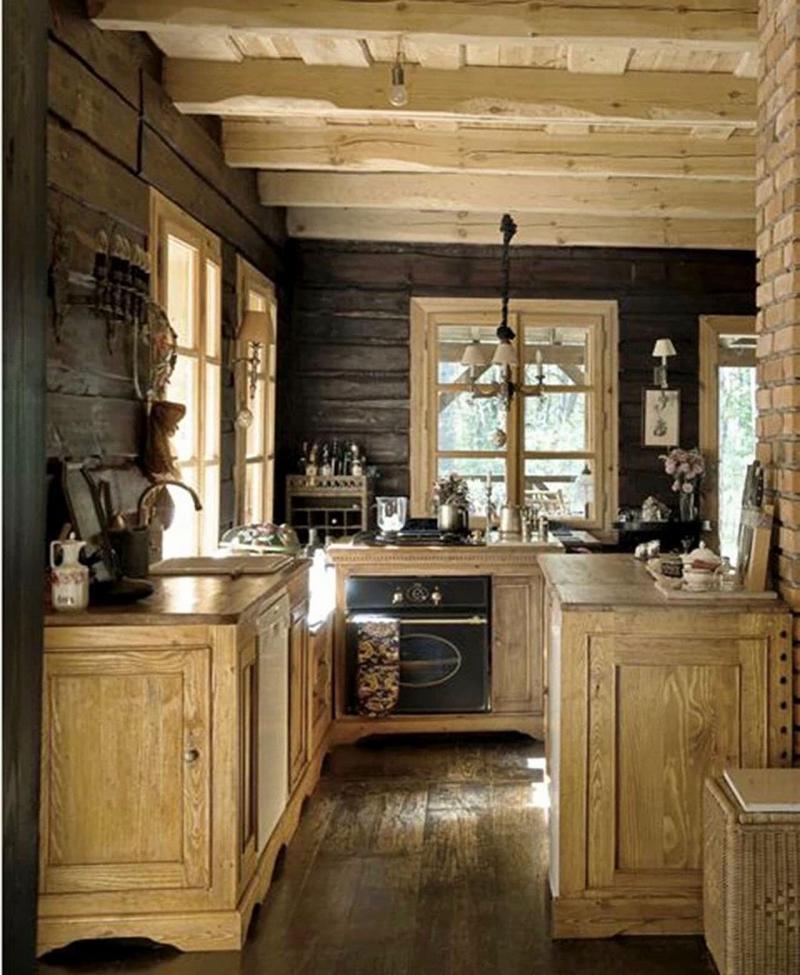 Маленькая кухня в стиле кантри 5