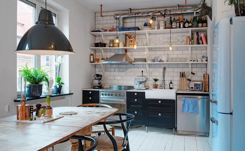 Маленькая кухня в стиле лофт 1