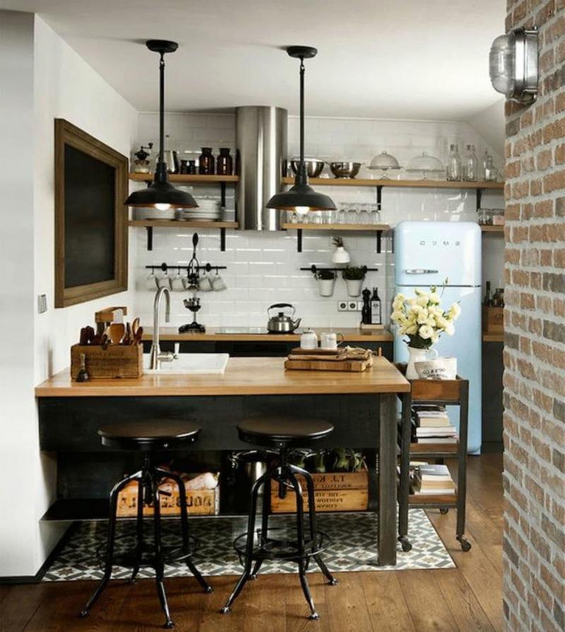 Маленькая кухня в стиле лофт 4