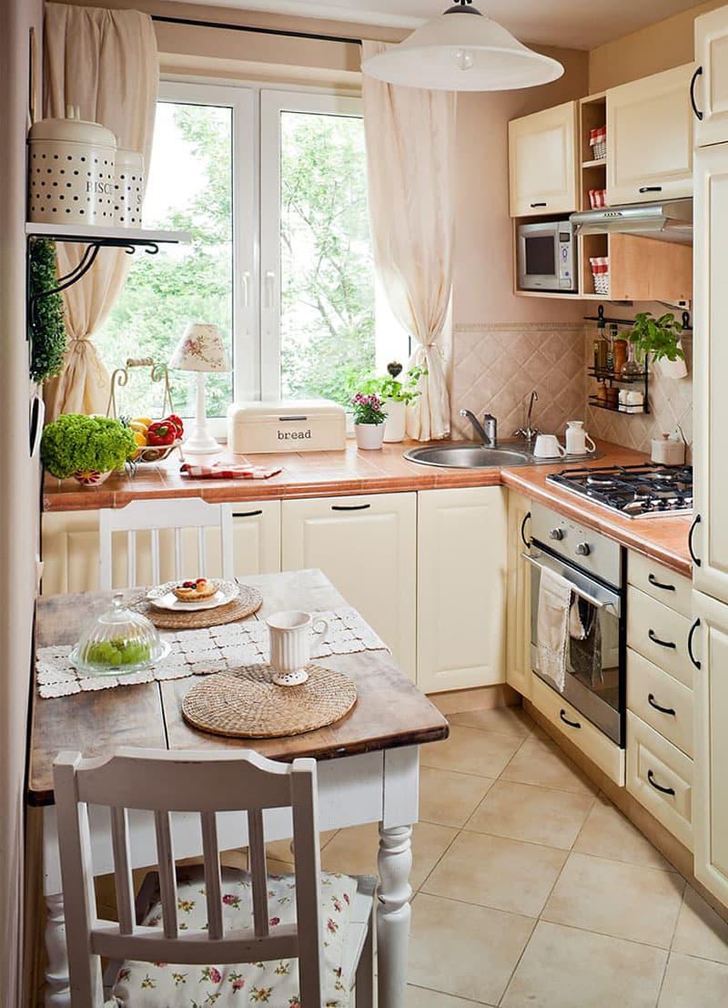 Маленькая кухня в стиле прованс 3