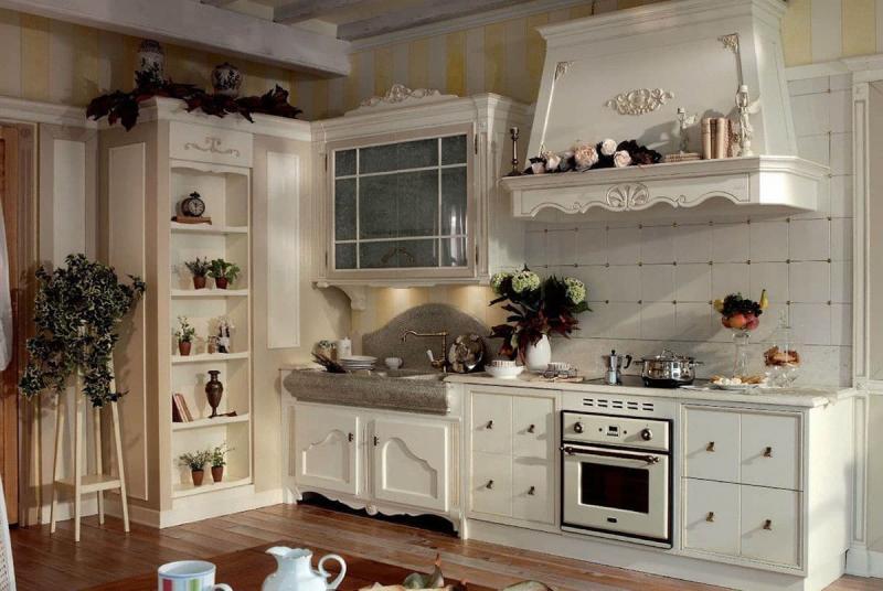 Духовой шкаф в интерьере кухни 2