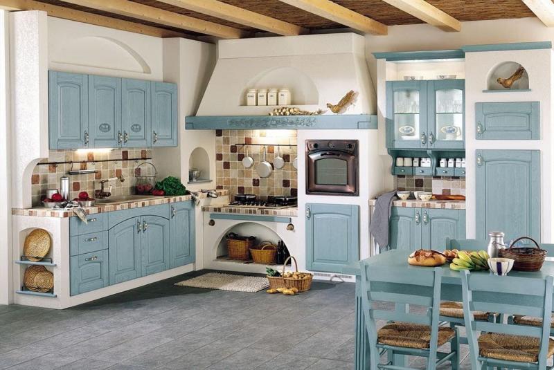 Духовой шкаф в интерьере кухни 3