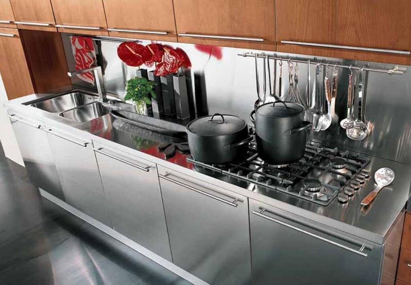 Фасады для кухни из аллюминия