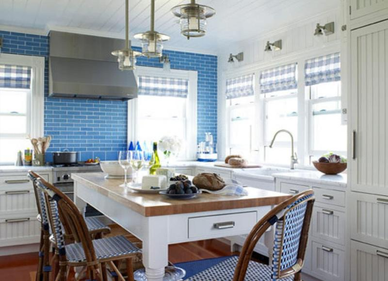 Кафель в интерьере кухни 2