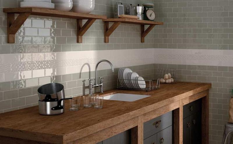 Кафельная плитка в интерьере кухни 1