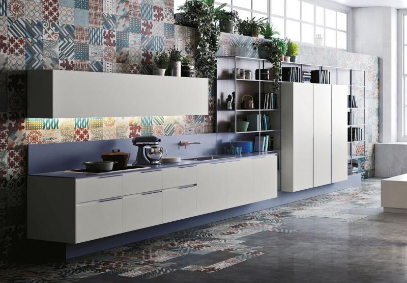Кафельная плитка в интерьере кухни 2