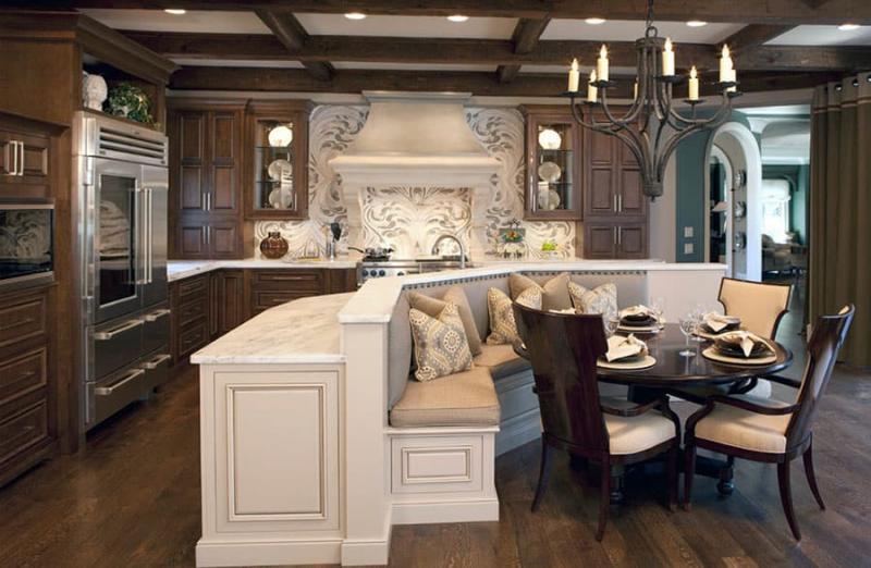 Кухонный уголок в интерьере кухни 1