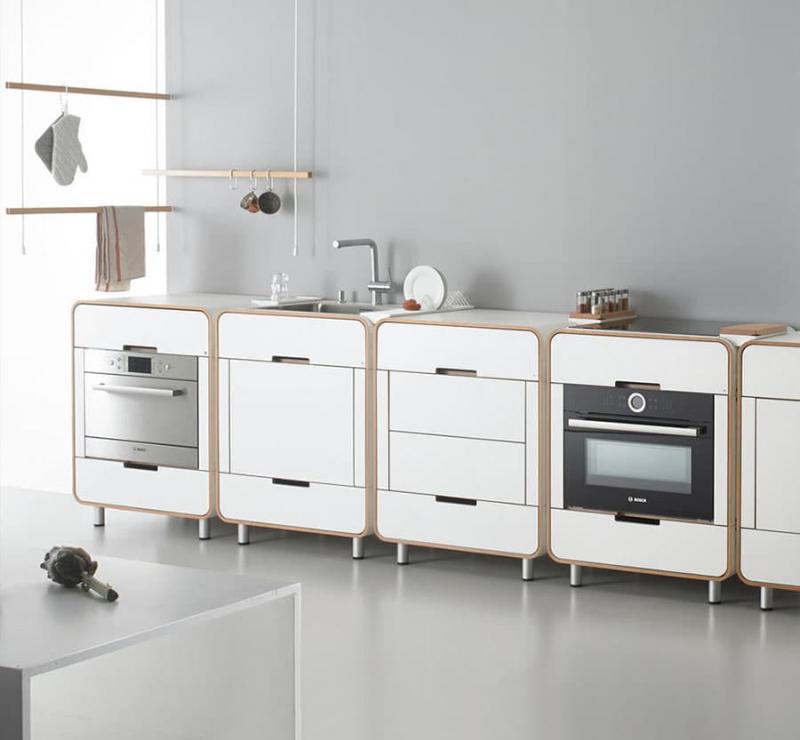 Необычная модульная кухня 1